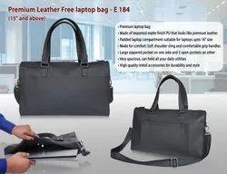 Black Leather Free Office Laptop Bag