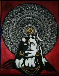 Acrylic God Image Painting, Size: 15x10