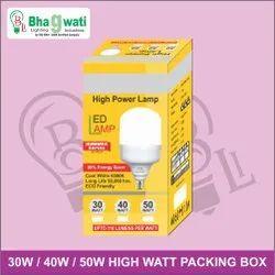 High Watt Bulb Packaging Box