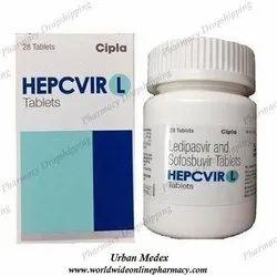 Hepcvir L Ledipasvir 90mg & Sofosbuvir 400mg