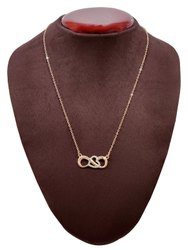 Stainless Steel Rose Gold Trendy Necklace, Box