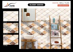 AIMS CERAMIC Gloss WALL TILES, Thickness: 5-10 mm, Size: 12x18 INCH