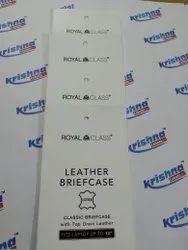 Hang tag labels