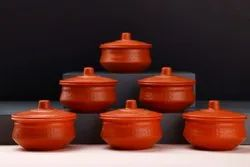 Red Round Handi Shape Container, For Food Storage
