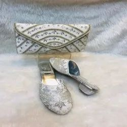 Shining Silver European Shoes And Bag For Women And Girl