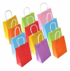Colored Paper Carry Bag, Capacity: 5 kg