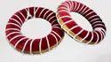 Brown Cloth Tabla Ring Set, Size: Full Size