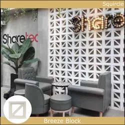 Squircle Concrete Breeze Block, For Partition Walls, Size: 190x190x65 mm