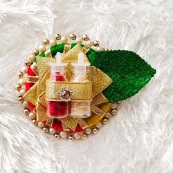Glass Bottles And Decoratives Multicolor Roli Chawal Packing For Rakhi, Size/Dimension: Approx 3 Inch