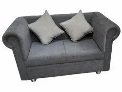 Grey Two Seater Velvet Sofa, For Home