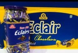 Glory Chocolate Eclairs Chocolava Flavoured Toffee, Packaging Type: Plastic Jar, Packaging Size: 80 Pieces