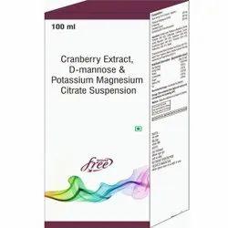 Cranberry Extract, D-mannose & Potassium Magnesium Citrate Suspension
