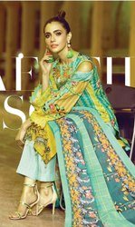 Alizeh Lawn Karachi Printed Dress Material Catalog