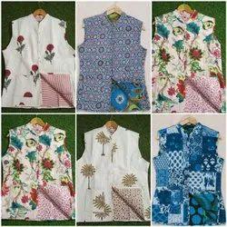 Lucky Handicraft Cotton Sleeveless Printed Jackets