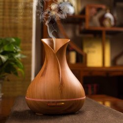Lavender Wodeen Color Big Pot Wooden Humidifier