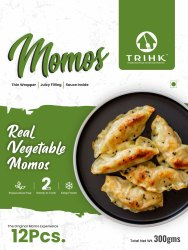Condiments Frozen Real Vegetable Momos, 300g(12 Pieces )