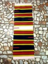 Striped Hand Weave Wool Multi colour Durries
