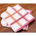 Cotton Striped Waffle Tea Towels For Kitchen Use, For Cleaning, Size: 40*40cm, 40*60cm
