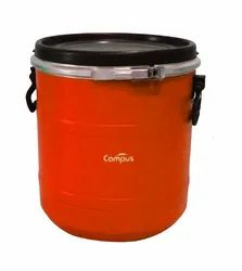 Blue 30 Litre HDPE Open Top Drum, For Industrial, Capacity: 20-60 L