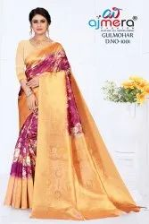 anmazing factory Printed PRINT SAREE, 6 m (with blouse piece)