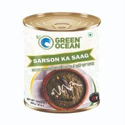 Natural Canned Sarson Ka Saag, 850 Gm, Packaging Type: Tin Can