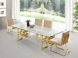 Silver Steel Table