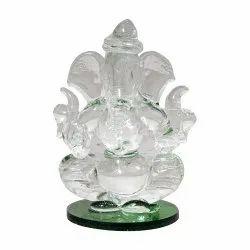 Lord Ganesha Statue Crystal/Glass