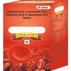 Liposomal Iron, Levomefolic Acid, Cevitamic Acid & Vitaminique B12 Tablets
