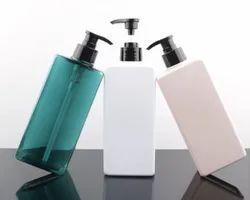 Luxury Pink Shampoo Bottle 250ml, Plastic Cosmetic Body Lotion Bottle Pump