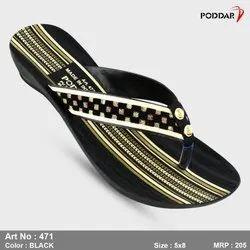 Poddar Multi Color Ladies Fashion Slipper, Size: 4*8, Article Number: 346
