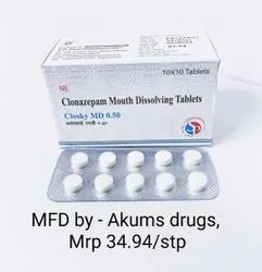 CLONAZEPAM MOUTH DISSOLVING 0.5 MG TABLET