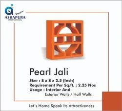 Red Clay Terracotta Pearl Jaali, 2.06 kg, Size: 8 X 8 X 2.5 (inch)
