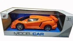 Orange Kids Plastic Model Toy Car