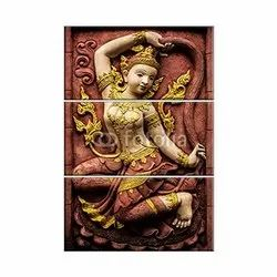 Multicolor CERAMIC 3D Wall Mural, For Decoration, Size: 600*1200 Mm