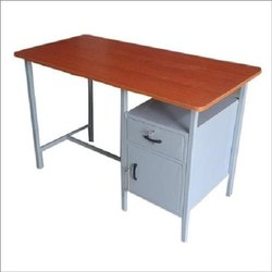 Steel Office Table, Sheesham