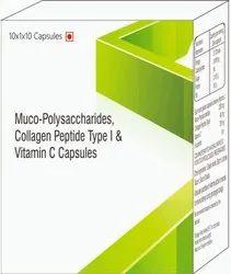 Muco- Polysaccharides Collagen Peptide Type I & Vitamin C Capsules