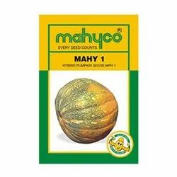 Orange Yellow HYBRID PUMPKIN - MAHYCO / MAHY 1, For Agriculture, Packaging Type: Pouch