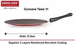 Nirlon Non Stick Aluminium Roti/Chapathi/Paratha Concave Tawa, 27.5cm, Gas Stove Compatible Only