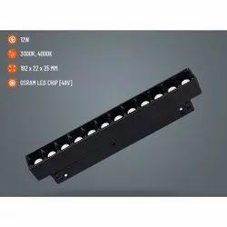 12W Aluminium Magnetic Track Light