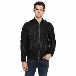 Full Sleeve Casual Jackets Biker Leather Jacket