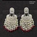 Fusion Arts Designer Chandbali Kundan Earrings