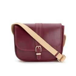 MBE/BG/507 Cow Napa Brown Bag With Cotton Shoulder Strap