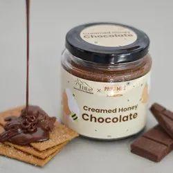 Round Theo Organics X Paul And Mike Creamed Honey Chocolate Spread