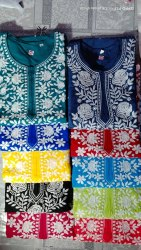 lucknowi cotton kurti fabric