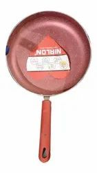 Aluminium Red Nirlon Non Stick Fry Pan, For Home, Size: 12inch