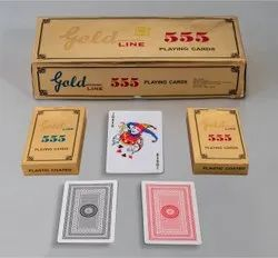 Gold Line Playing Card