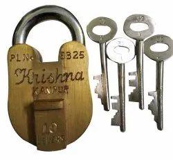 With Key Main Door Solid Brass Padlock