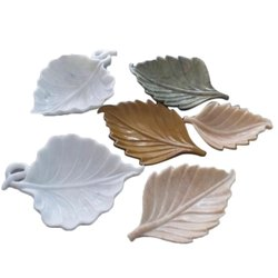 Indoor Leaf Shape Marble Leafs, For Decoration