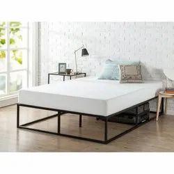 Metallic Black Litmus Metal Mattress Foundation Bed Frame, For Home, Size: Queen Size
