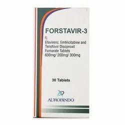 Forstavir-3 (Emtricitabine (200 Mg) + Tenofovir Disoproxil Fumarate (300 Mg )+ Efavirenz (600 Mg)